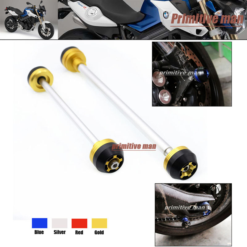 Motorcycle For BMW F800R 2009-2014 Front &amp; Rear Axle Fork Crash Sliders Wheel Protector Gold<br><br>Aliexpress