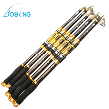 Portable Carbon 2.1M 2.4M 2.7M 3.0M 3.6M Telescopic Fishing Rod Spinning Hand Fishing Tackle Sea Rod Fishing tackle accessory