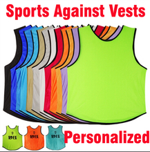 Benwon -  Personalized soccer group against bibs adult's customized football training jerseys t shirts sports group against vest