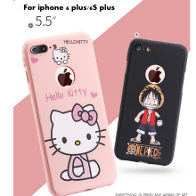 3D cartoon hello Kitty 360 degree cover for iphone 6 6S 6S plus shell protection phone pink case coque cases free glass