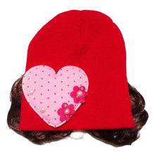 ABWE Best Sale Love Heart Toddlers Infant Baby Headband Hair Band Headwear Wig Hat red