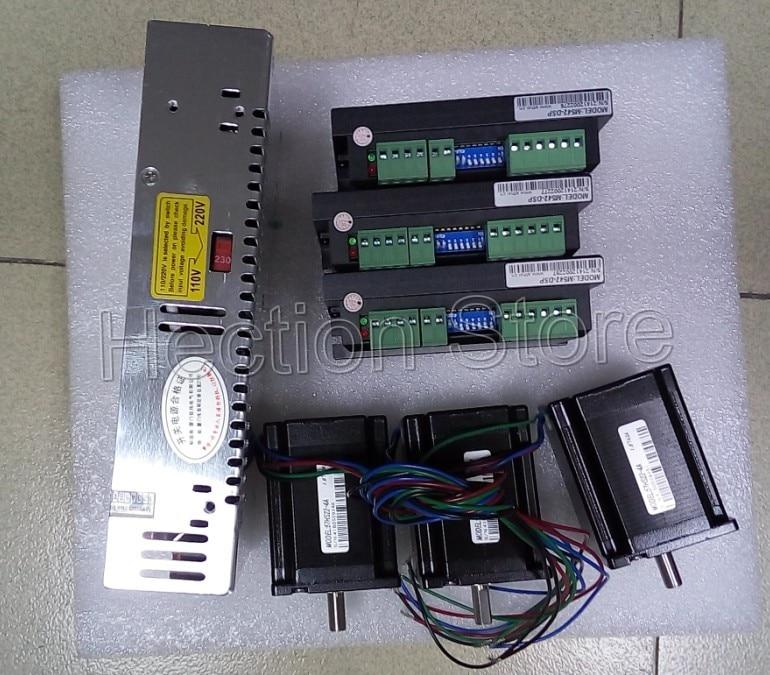 Wholesale 3 Axis CNC control system 3 pcs stepper motor nema 23(312OZ=2.2NM)and 3 pcs driver M542-DSP+A power supply S-360-10<br>
