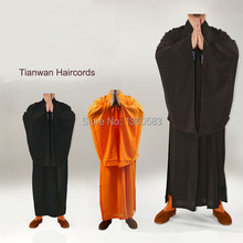Shaolin Temple Zen Buddhist Robe Monk Meditation Gown Kung fu Cassock Clothes Abbot Bonze Costumes Training Uniform Suits Unisex(China)