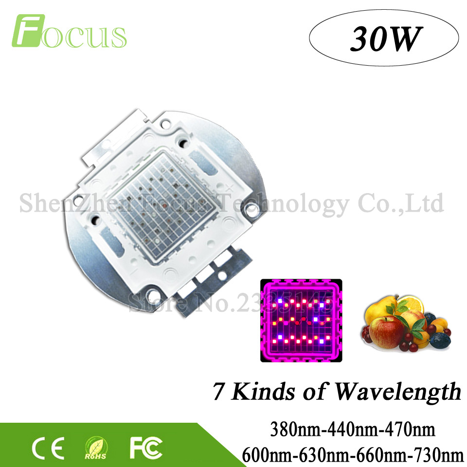 High Quality 30W LED Grow Light 380nm 440nm 470nm 600nm 630nm 660nm 730nm Grow LED 30 W Diode For Plant Fruit Vegetable Growth<br><br>Aliexpress