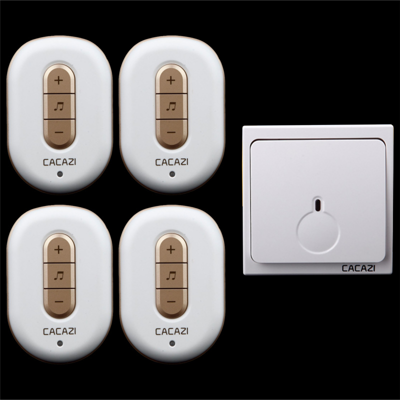 Free shipping! 1 transmitter + 4 Receiver New Wireless Doorbell With Remote Control Musical 48Tunes Digtal doorchime D9918 -1+4<br>