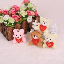 New 40pcs/lot 5.5cm lovely plush teddy bear,small plush bears for children Gifts Plush Toys  Wedding Decoration  phone pandents