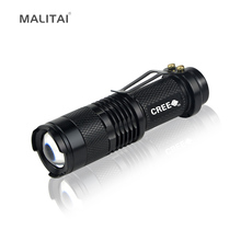 1Pcs Portable Waterproof Aluminum CREE Q5 1000LM LED Flashlight 3 Modes Zoomable Torch lights For Camping Bike Outdoor lighting