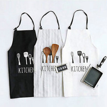 Women Man Cotton Apron Commercial Restaurant Home Bib Spun Poly Cotton Kitchen Aprons