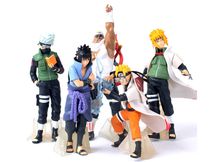 2015 NEW Hot 5 PCS/set Naruto 14cm kakashi sasuke Anime Assortment Figures Set The 20th Generation Collection Model toy