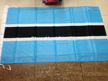 shipping 3ft x 5ft Hanging Flag Polyester Botswana national Banner Outdoor Indoor 150x90cm Big Flag for Celebration