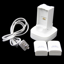 Hot New 2 x 4800mAh Rechargeable Battery + Charger Dock Charging Station US Plug AC Power for Xbox 360 Controller(China)
