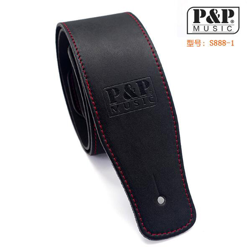 High-grade product leather guitar bass leather 160 cm straps instrument accessories<br>