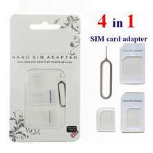100 pcs 4in1 Noosy Nano Sim Card Adapter + Micro Sim cards adapter + Standard SIM Card Adapter For iPhone 7