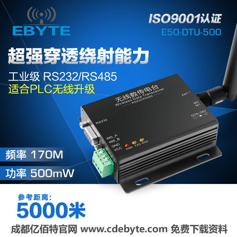 170M radio RS485/RS232 wireless module | serial DTU| | ultra wall Wang 433M/2.4GHz<br>