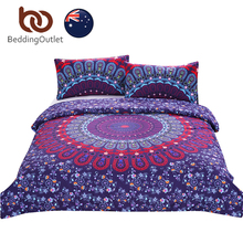 BeddingOutlet Love Stretches Bedding Bohemian Style Retro Duvet Cover and Pillowcase Twill AU Single Double Queen AU SIZE Hot