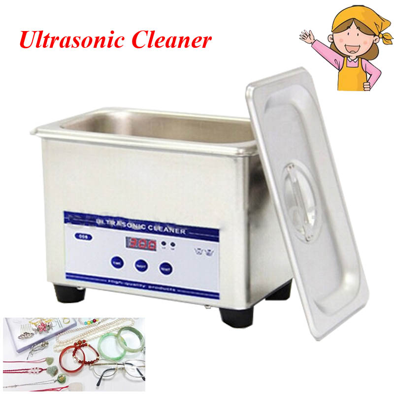 1pc 110V/220V 50W 0.8L Stainless Steel Digital Ultrasonic Cleaner JP-008<br>
