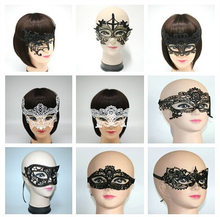 3pics/bag Free Shipping Sexy Black Lace Eyes Mask For Masquerade Party/ Lace Mask, Black Venetian Mask, Lace  Halloween Costumes