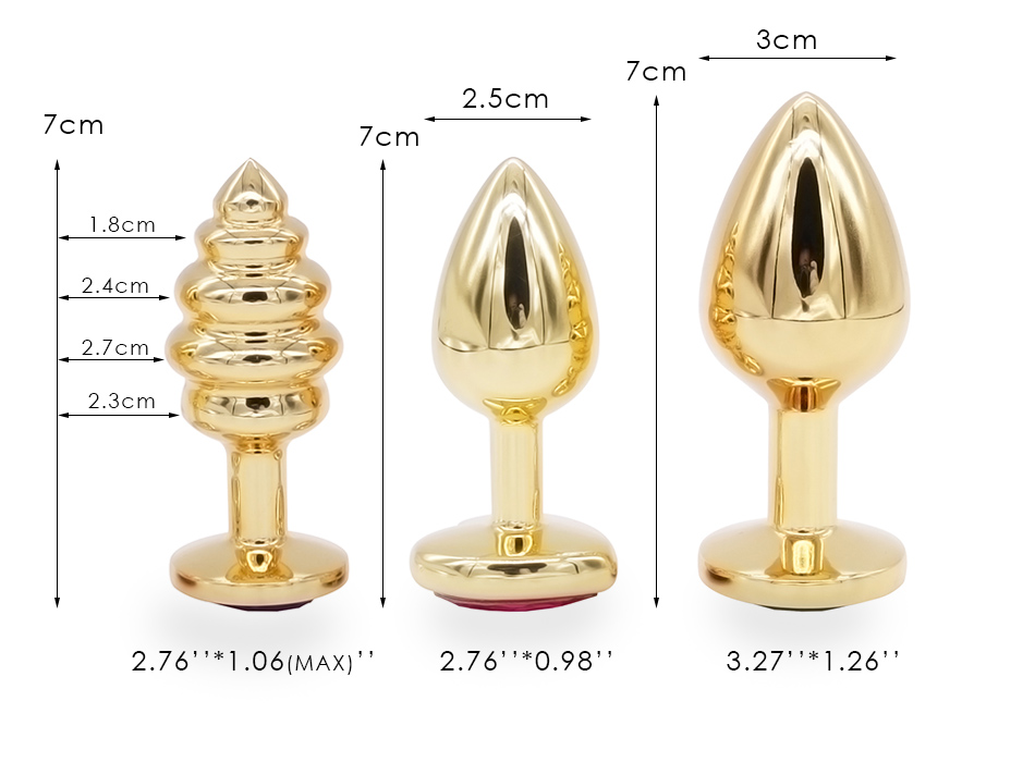 DOMI 3PCS Anal Beads Crystal Jewelry Heart Butt Plug Stimulator Sex Toys Dildo Stainless Steel Anal Plug 10