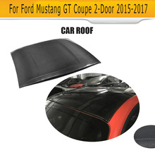 Auto Roof Top Stickers Carbon Fiber for Ford Mustang GT Coupe 2-Door 2015-2017 Car Accessories(Hong Kong)