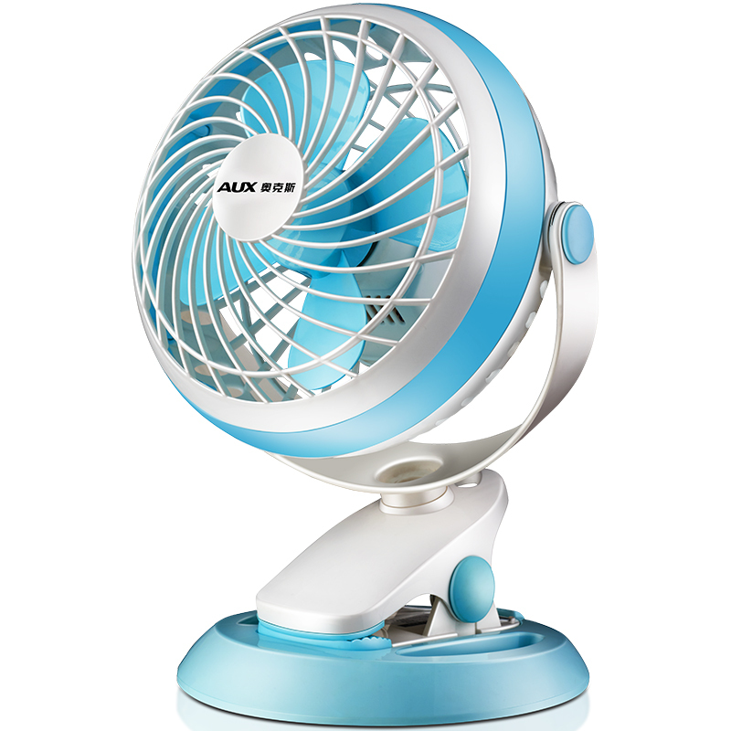 AUX Mini USB Electric Fans Air Cooling Fan Second Gear Negative Ion Mute 7 inch 5V 3W Home Student Desktop Cooling Using FO-18A7<br>