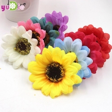 10pcs/lot 6cm silk sunflower artificial flowers wedding decoration wreath decorated DIY party decorations artificial sunflowers