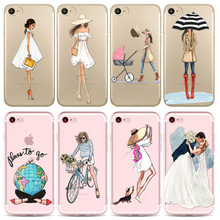 Phone Cases For iPhone 7 8 6 6s 5 5s SE 7Plus 8Plus Traveling Girls Design Beautiful Bikini Girl Styles Cover for iphone 7 case