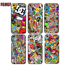 Marvel Sticker Bomb Phone Hard Cover Case for iphone 4 4s 5 5s se 6 6splus 7 7plus hard cases best gifts for lover(China)