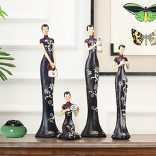 wedding decoration New classical 4PC crafts retro TV cabinet China wind model room decor office ladies dress cutting dies(China)