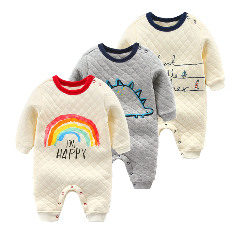 Newborn romper baby clothes autumn 100% cotton long-sleeve sleepwear baby clothes <br><br>Aliexpress