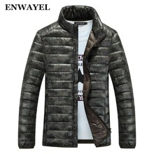 ENWAYEL Down Jacket Men White Duck Down Coat Ultralight Thick Down Jacket Male Windproof Warm NEW 2017 Autum Winter EW131(China)