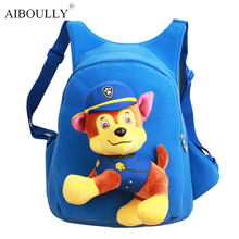 Hot sale 32cm Cartoon Canine Patrol Puppy Dogs Plush Toys Backpack Toys School Bag Children Birthday Gifts