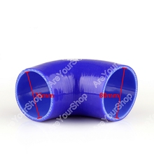 Areyourshop Universal Elbow Reducer 90 Degree 76mm to 80mm Vacuum Silicone Pipe Hose Coupler Intercooler Turbo Water Air Pipe(China)