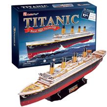Development of intelligence,Educational toys,good quality,foam,emulational,best gifts,ship model,Titanic model,3D PUZZLE(China)