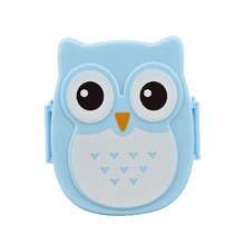 4 Colors 1050ml Cartoon Owl Lunch Box Plastic Fruit Food Container Portable Bento Box Picnic Storage Container Children Gifts