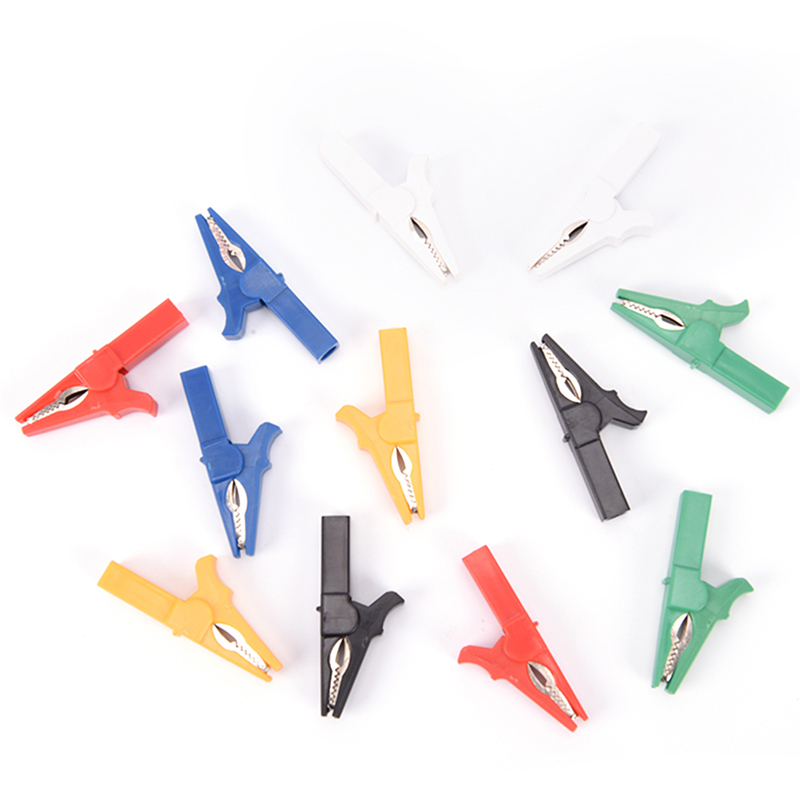 2pcs/lot 55mm Alligator Clips Crocodile Clips Cable Lamp For Banana Plug Connector Hot Sale
