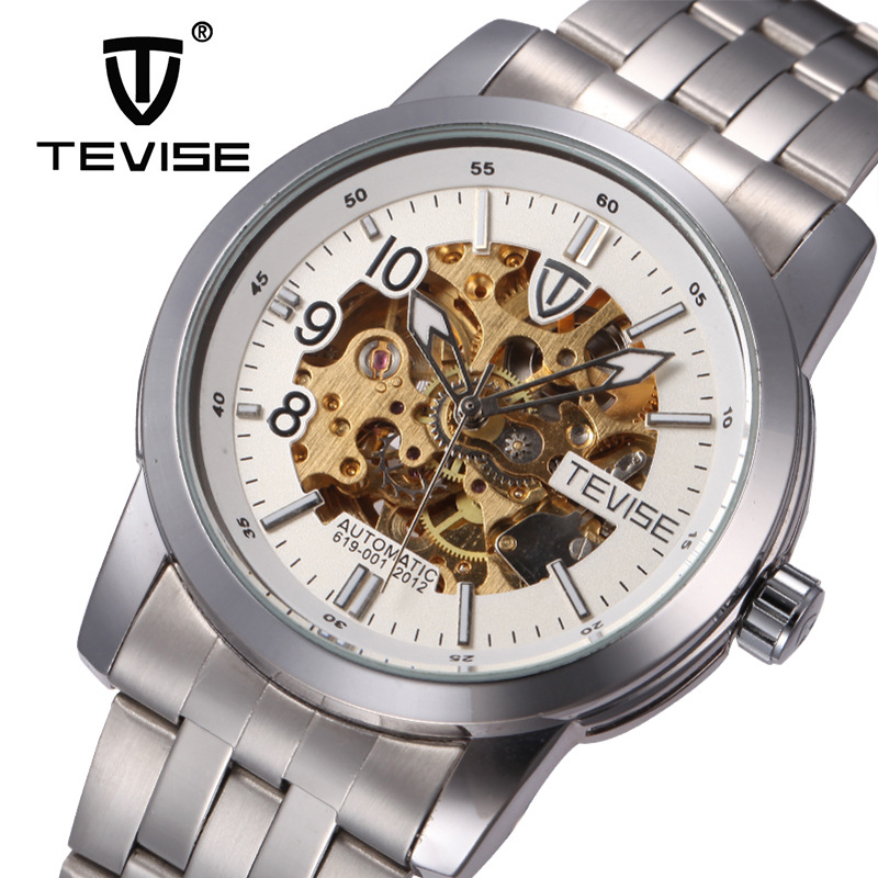 2016 Luxury Men Watch Hollow Brand TEVISE Automatic Mechanical Men Watch Waterproof Steel Watches Clock Relogio Masculino Reloj<br><br>Aliexpress