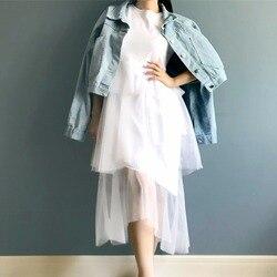 Лоскутное платье-миди с сеткой