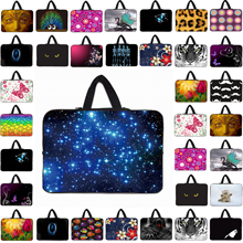Fashion Tablet Laptop 10 10.1 12 13 14 15 17 17.3 Inch Nylon Shockproof Neoprene Sleeve Case Bag For Notebook Computer Cover Bag