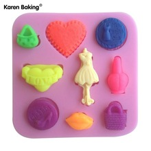 Purse Shaped Chocolate Candy Jello 3D Silicone Cake Tools Soap Mold Sugarcraft Cake Decoration C077