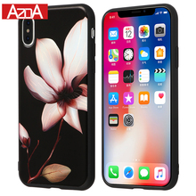 Chinese Lotus Flower Classic Case for iPhone X Phone Cases for iPhone 6 6S 7 8 Plus 5 5S SE Soft TPU Cover Coque Floral Funda(China)