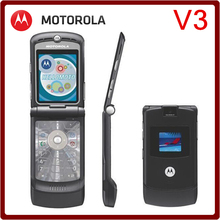V3 Original unlocked Motorola Razr V3 100% GOOD quality Refurbished mobile phone one year warranty free shipping