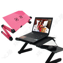 Factory price Portable Laptop Stand Desk Table Tray On Sofa Bed Dual Cooling Fan Mouse 48x26CM Oct12