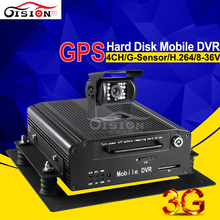 Hard Disk 4CH Mobile DVR Car Dvr Recorder GPS 3G Real Time Surveillance Support 2TB + 128GB Storage PC Phone Monitor Mdvr Kits(China)