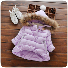 1 Pcs Comfortable Girls Soft Winter Hooded Down Baby Coat Kids 3 Colors Thicken Parkas Jacket Clothes Warm Clothing Gifts