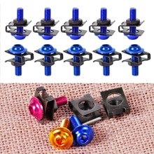 10PCS/Set CNC Motorcycle 6mm Body Fairing Bolts Spire Speed Fastener Clips Screw M6 Spring Nuts For Honda Suzuki Harley Yamaha