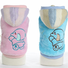 Pink Blue Color XS-XL Size Warm Jackets for Pets Dog Clothes with Animals Picture Cartoon Design Pet Dog Clothes for Small Dogs