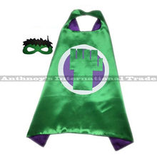 Halloween 1set The hulk cape with MASK Male children's birthday party mask faver cosplay Halloween fashion gifts cosplay(China)