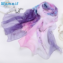 Womail Good Deal  New Fashion Women Ladies Spring Chiffon Floral Scarf Soft Wrap Long Shawl Gift 1PC*23