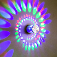 Modern Creative led wall lamp TV Background LED Wall Light Aluminum Hollow Cylinder RGB 3W Indoor Home Holiday Lighting AC 85-260V(China)
