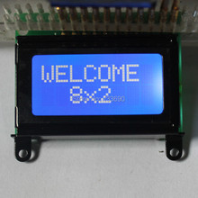5pcs/lot 8x2 STN Blue White character 0802 lcd module HD44780 or SPLC780 Controller mini LCD 8*2 LCD display